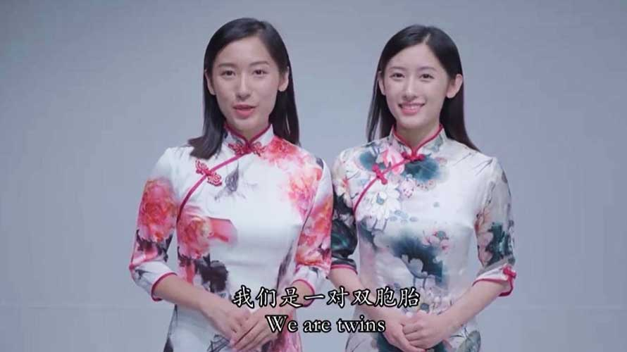 Chinese twins—Young People from Different Civilizations
